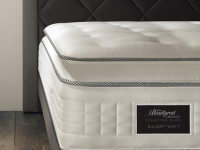 Zoom on a Beautyrest by Simmons mattress Detailed view